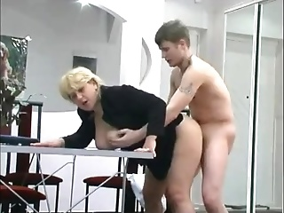Poor Boy Needs To Fuck His Chubby Milf Boss In The Office