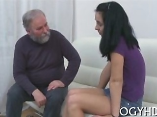 Olf Fart Fucks Mouth Of A Young Gal