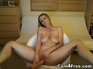 Hot Russian Takes Dildo In Her Tight Pussy Hd