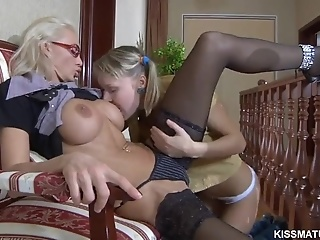 Pussy Licking Lesbian Fun With A Russian Mature And 18 Yo Old Teen