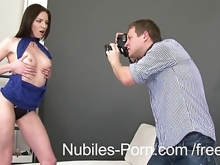 Big Photographer's Dick Jumps Out For Young Naked Model